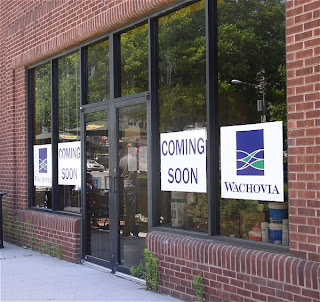 Wachovia Bank: Coming Soon.