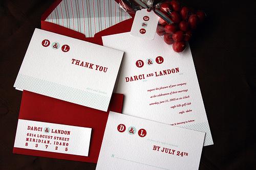 Darci Landon Wedding Invitations Boise Idaho wedding cards 2011