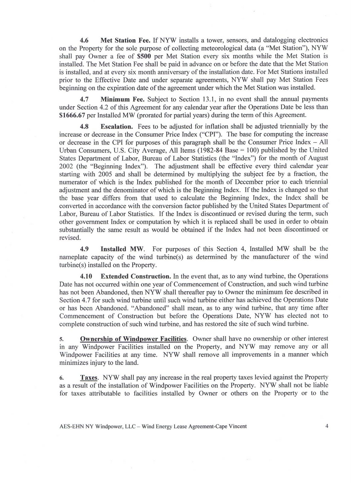 Energy Valley Of New York State Acciona Lease Agreement Pages 1