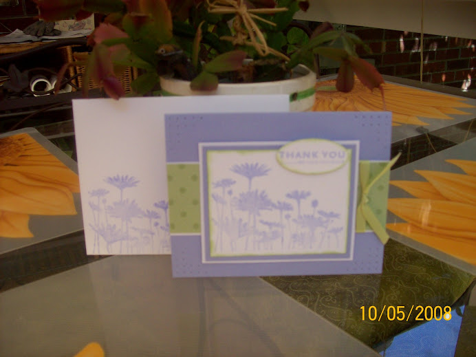 Upsy Daisy....World Card Making Day class, Oct 4, 2008
