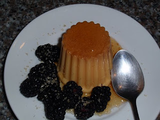 blackberry cheese pie flan pic