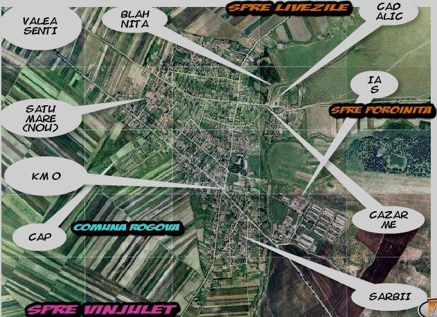 Plan localitatea Rogova