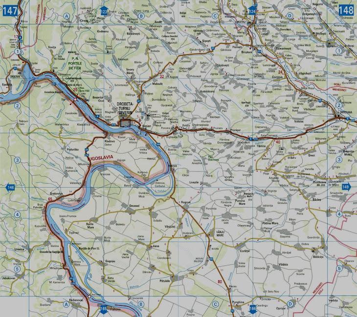 Harta geografica a zonei