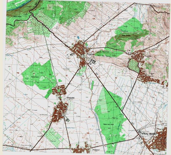 Harta topografica o zonei Rogova
