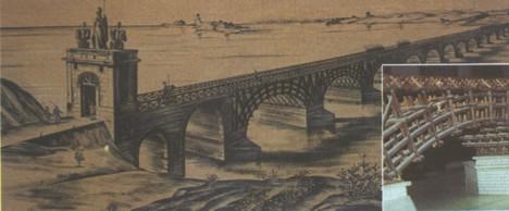 Podul construit de romani la Drobeta