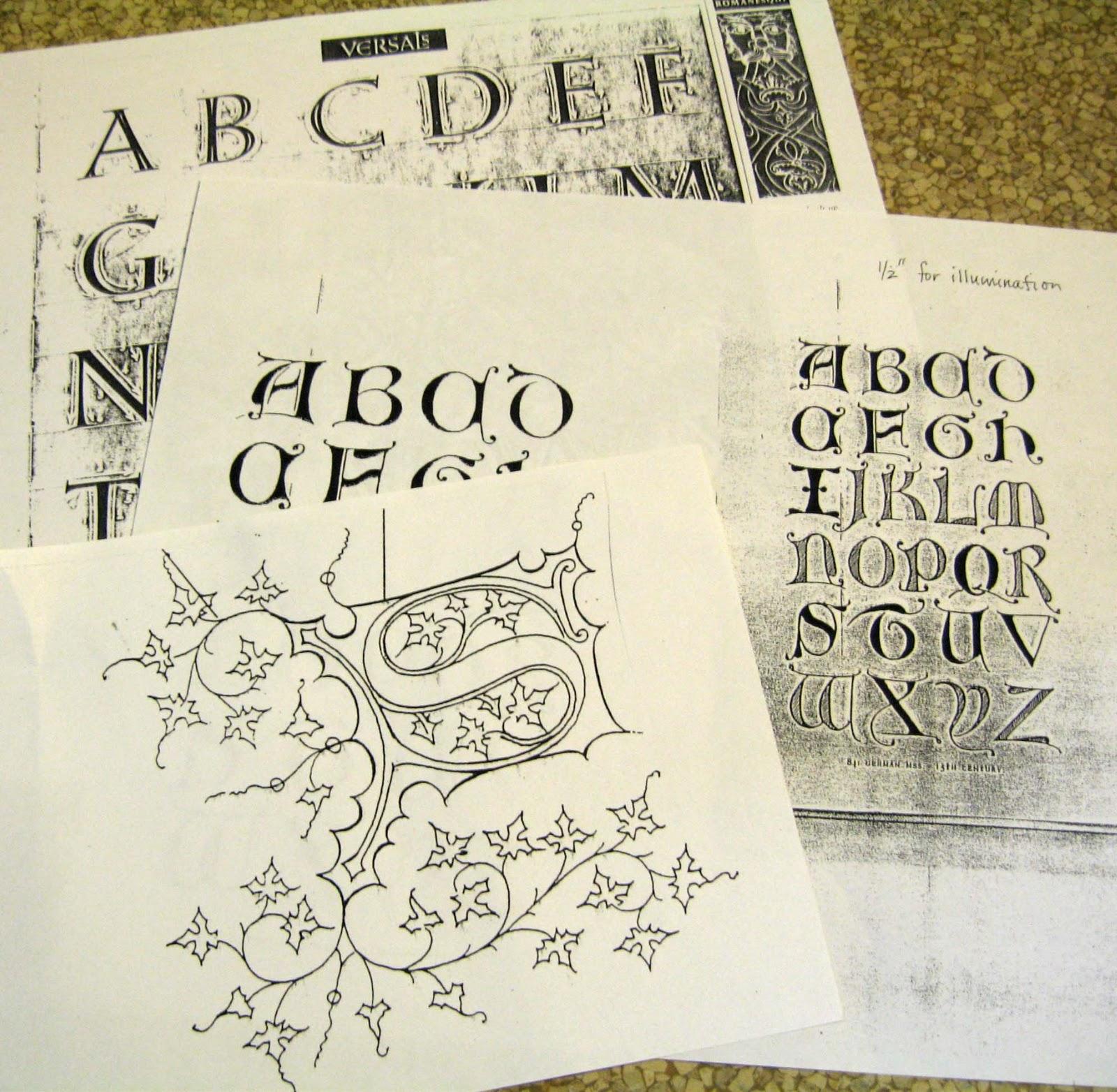 Illuminated Manuscript Letter I Illuminating a letter: