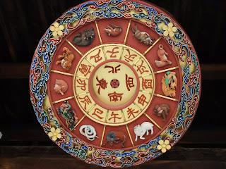 大阪天満宮の門の干支飾り