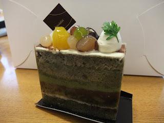 ももの木の抹茶ケーキ