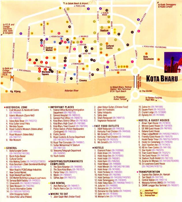 KOTA BHARU MAP
