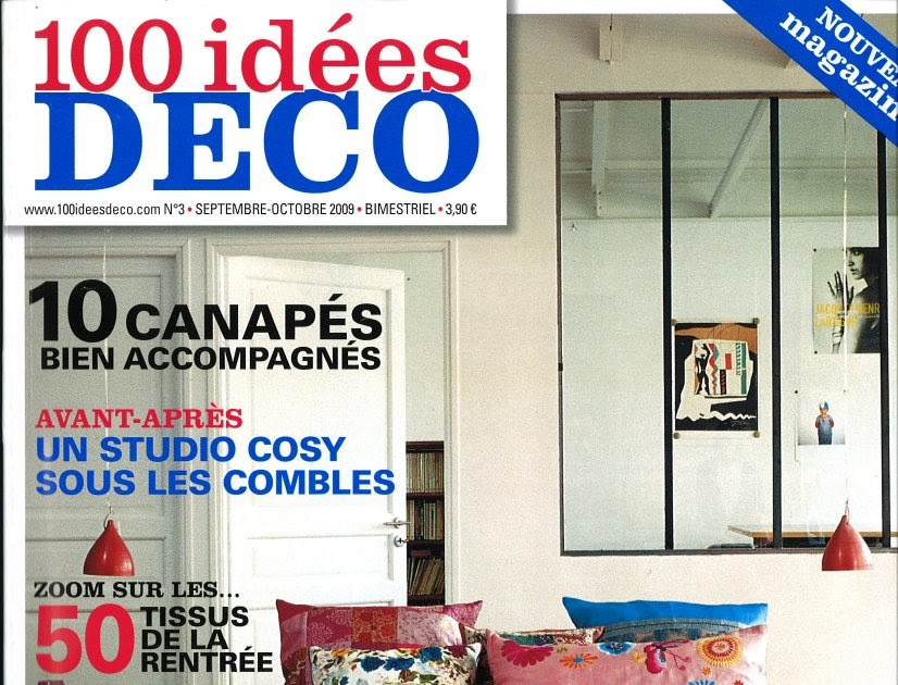Jean dange 100 id es d co magazine septembre 2009 for Deco idees magazine