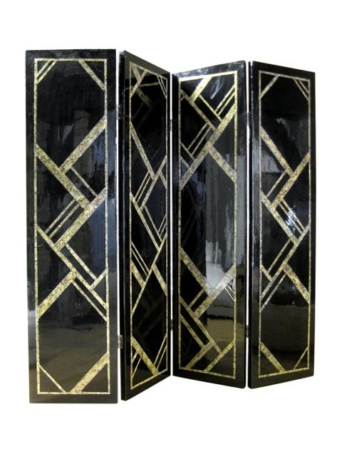 jean dange art d co lacquer screen paravent art d co en laque. Black Bedroom Furniture Sets. Home Design Ideas