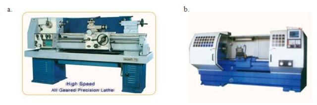 mesin bubut manual dan mesin bubut cnc