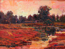 Evening Swampscape in Red