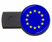 eu country symbol usb flash drive
