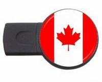 Canada country symbol usb flash drive