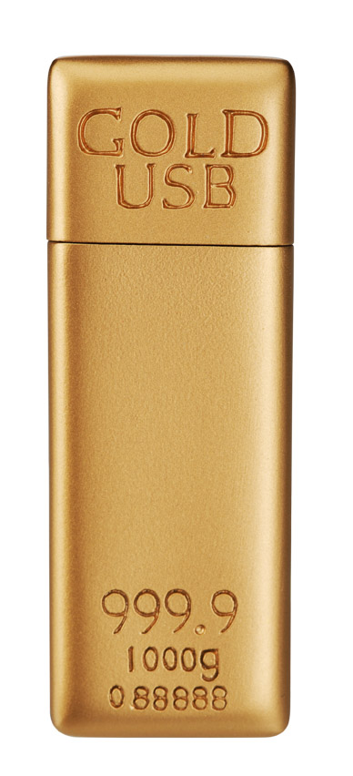 Gold bar USB flash bar