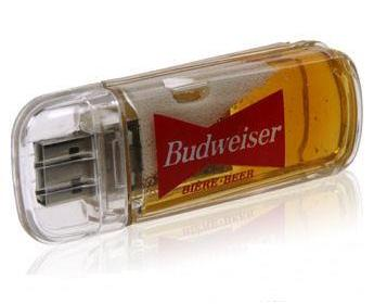 Beer-Filled USB flash drive
