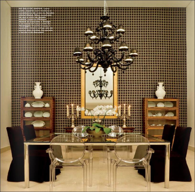 decoracao de sala luxo: lustre sofisticação papel de parede cara de casa luxo só