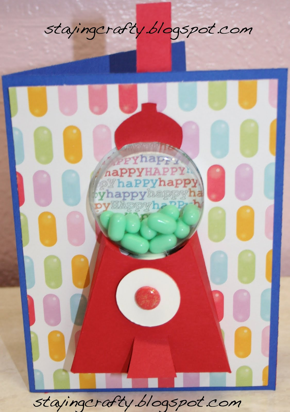 Staying crafty functional gumball machine card free template functional gumball machine card free template video instructions too pronofoot35fo Images