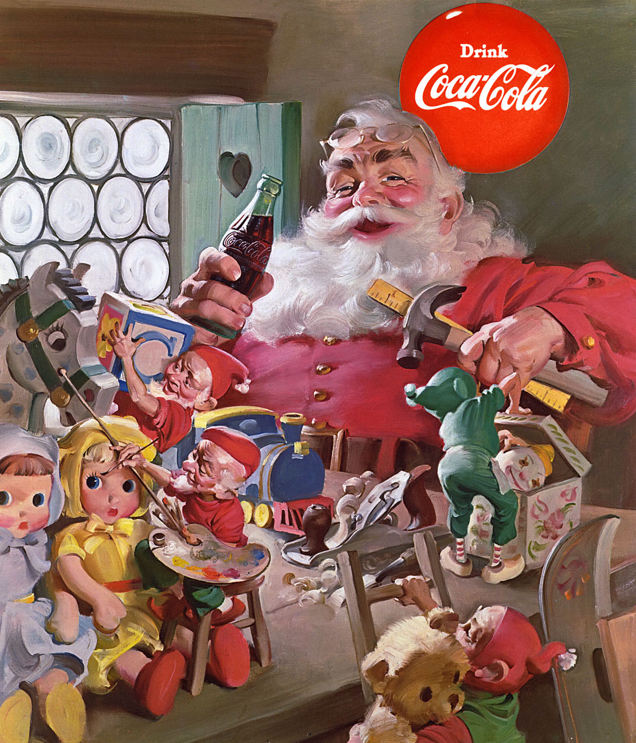 Santa 1953 the image of santa claus has appeared on