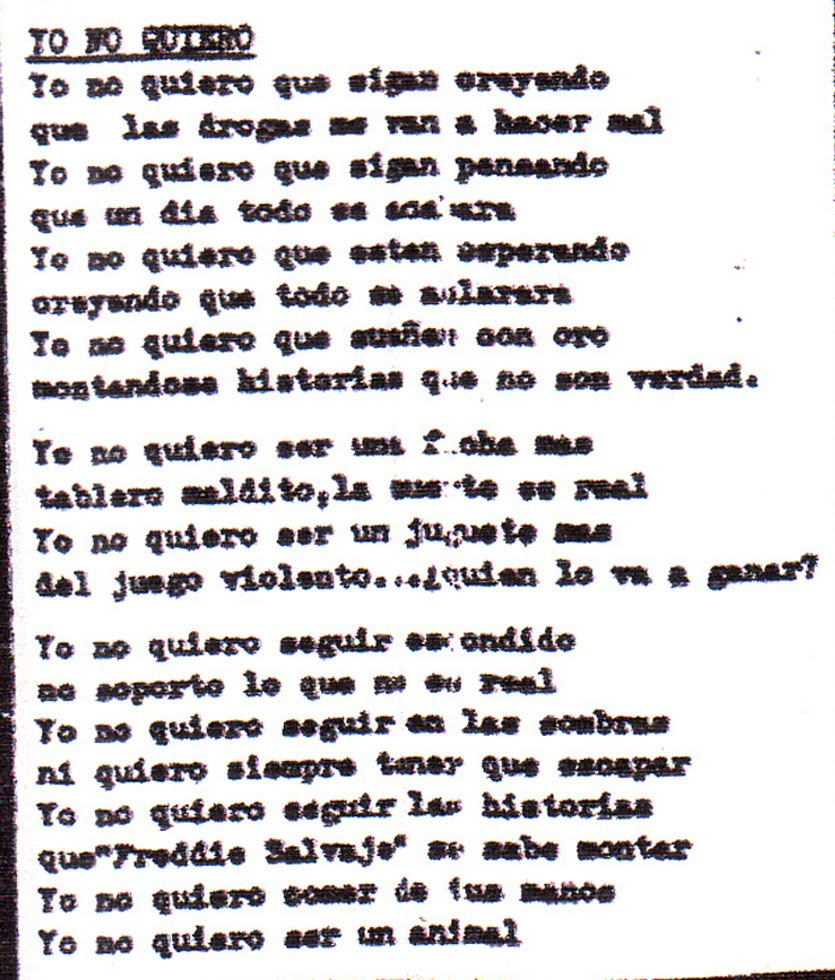 letras de la cancion punk:
