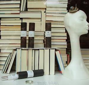 Schaufensterdekoration mit Buchhandlung HundtHammerstein