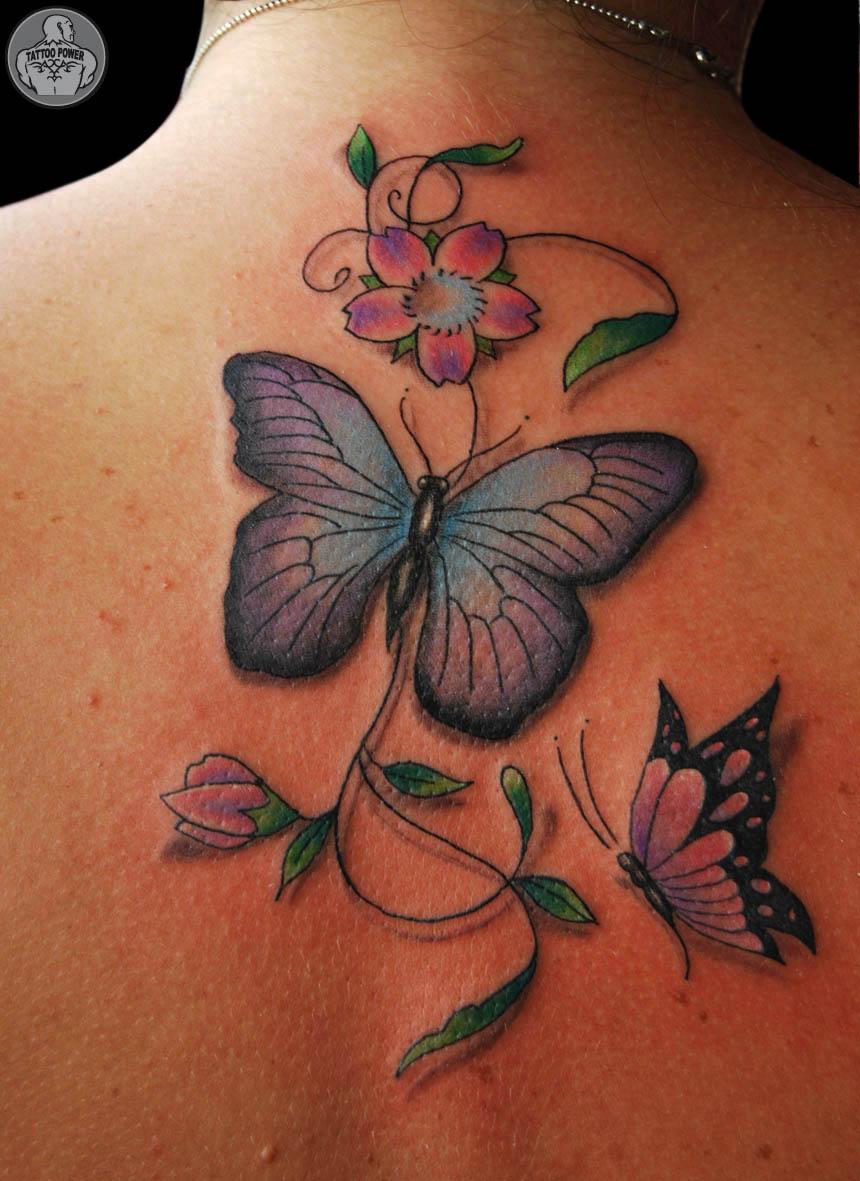 Fotos De Tatuagens De Flores E Borboletas - Tatuagens femininas: 100 fotos lindas para você se inspirar