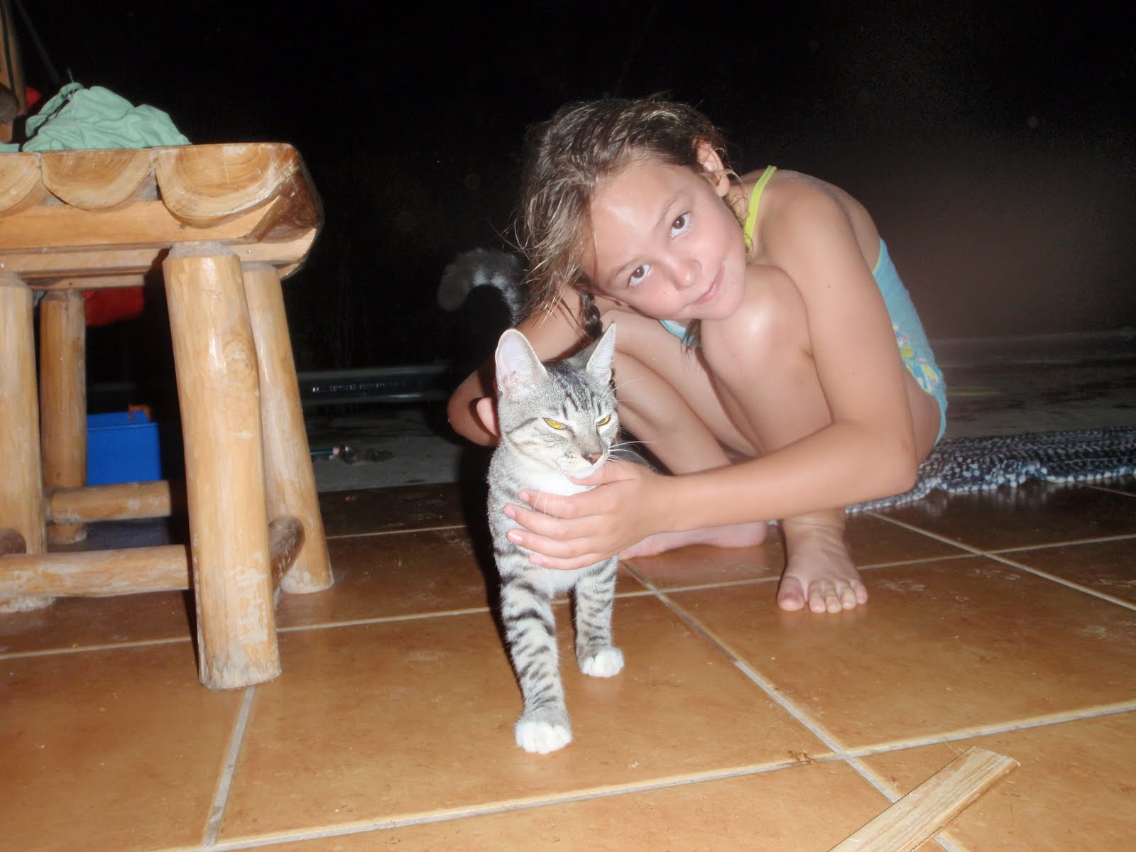 Riley Has Re Found Her Kitty Jamie Here In Nosara