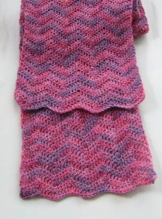 The Yarnarian: One-skein Crochet Scarf