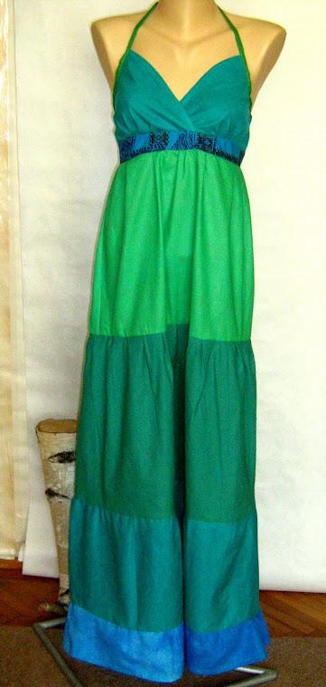 rochie cu verde si albastru , nr.90