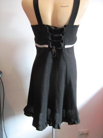 Sarafan negru cu mac-spate