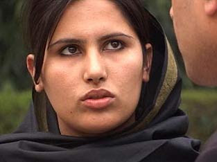 RAY OF LIGHT: 20-year-old Sabra has travelled to India from Afghanistan in search of justice.