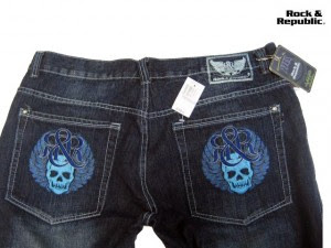 Rock & Republic Skull Pocket Denim Jeans