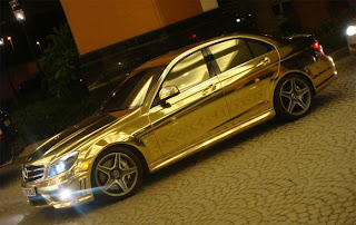 Gold plated Mercedes-Benz C63 AMG