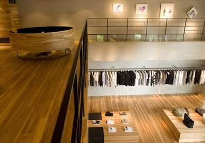 Wooden-fashion-store-interior