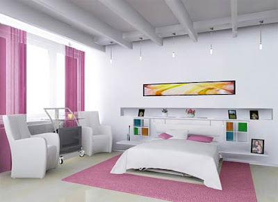 romantic-bedroom-pink-and-white-color-combination