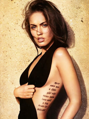 megan fox tattoos rib. Megan Fox Rib Tattoo What Does