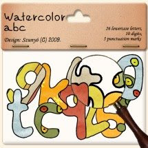 Alpha: Watercolor abc