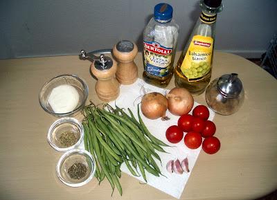 Zelené fazuľky s karamelizovanou cibuľou