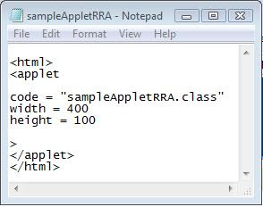 java applet html code