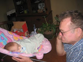 Bjorn admiring little Sophia