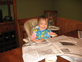 Enjoying her morning paper