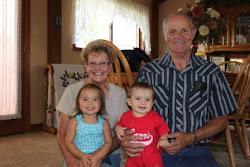 Having fun with Grandma Bev and Grandpa Ed