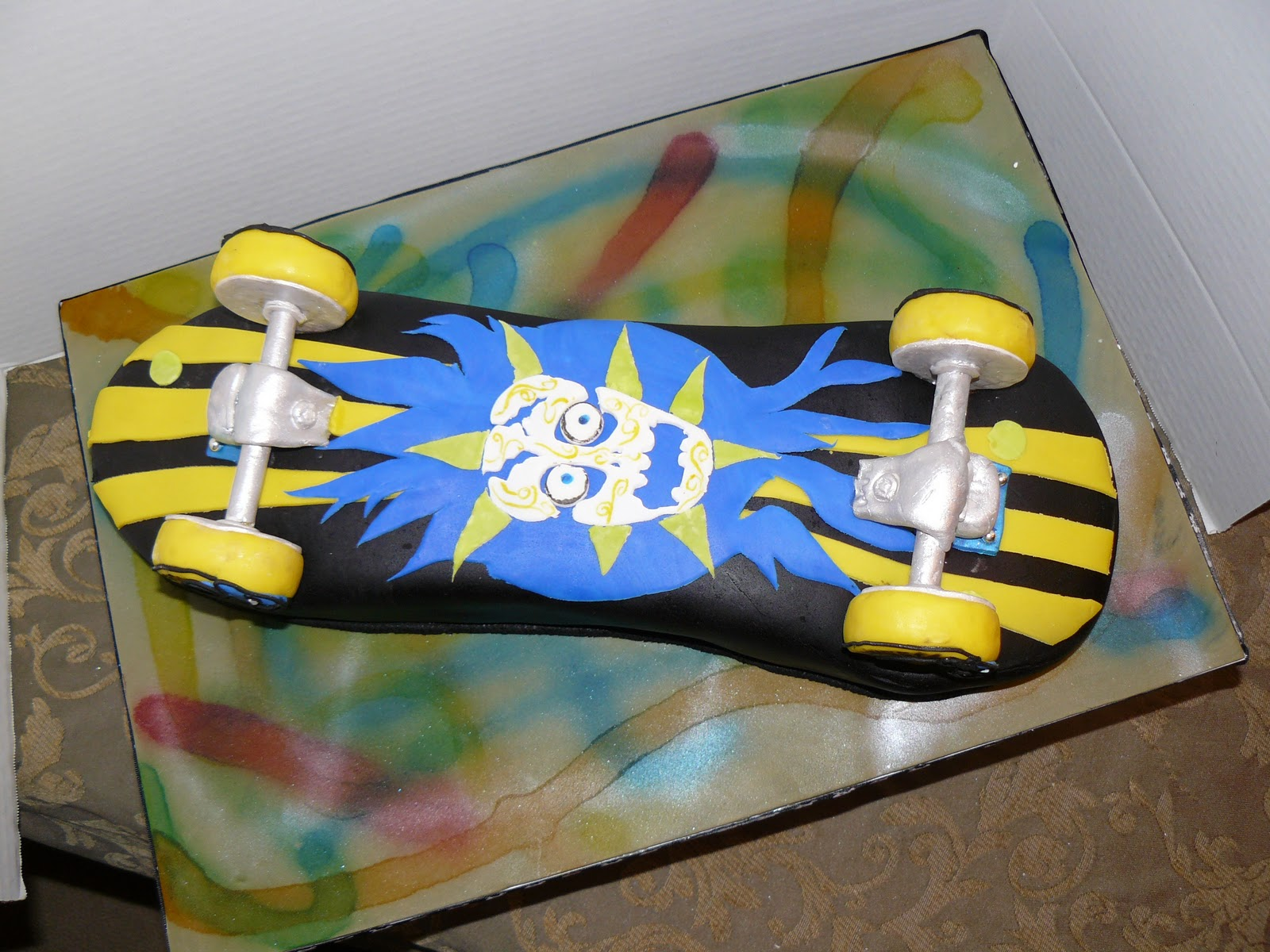 The Woodlands Cake Boutique Skateboard Birthday Cake