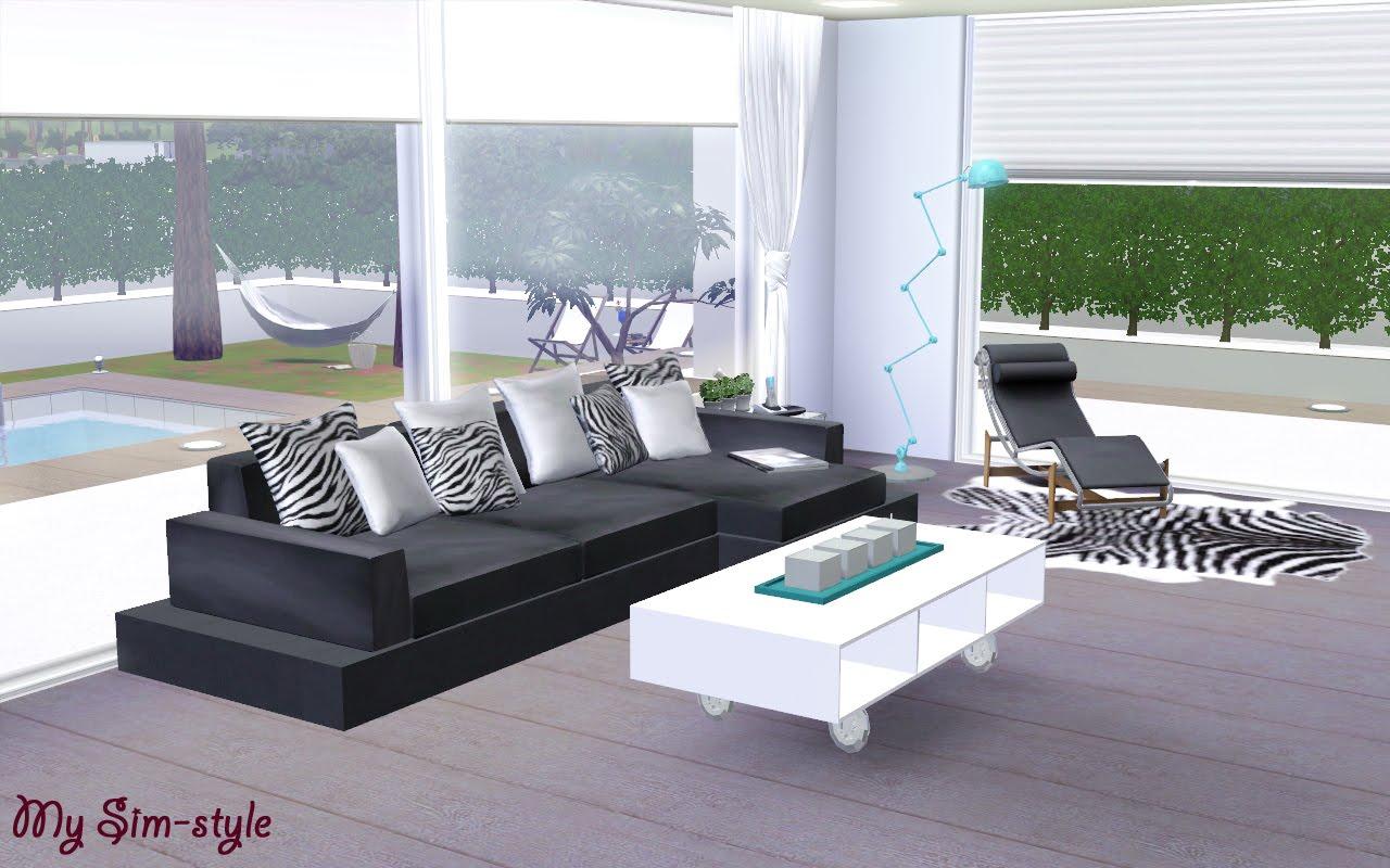 My sim style el sal n for Salon moderne sims 4