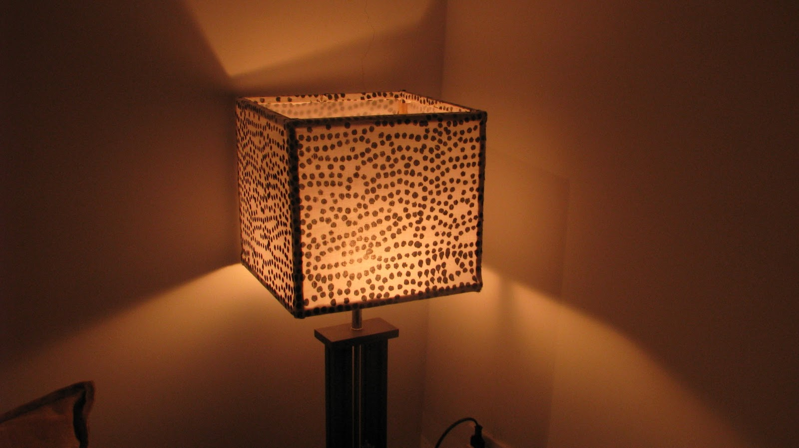 Lamp shade the magic of black and white indian woodworkingdiy diy lampshade using fabric aloadofball Image collections