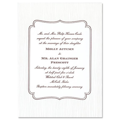 The crane insider exclusive martha stewart wedding invitation design have a look stopboris Image collections