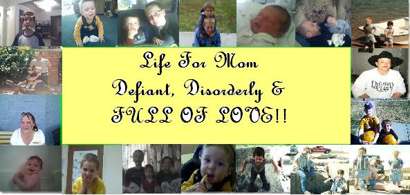 Life for Mom defiant, disorderly and full of love!