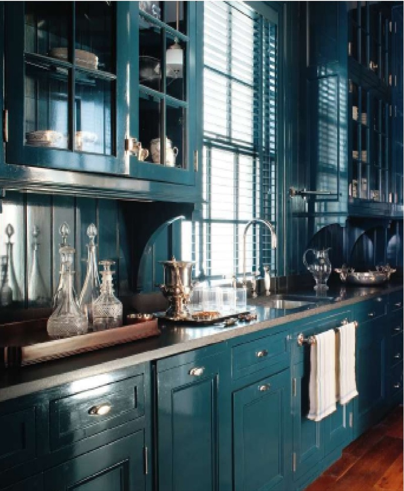 , but I can certainly see an entire kitchen in this incredible color