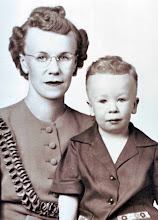 With his mother, Lois, circa 1943
